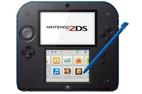 nintendo 2 ds console consoles 2ds nintendo 2ds noir bleu 3806650 darty