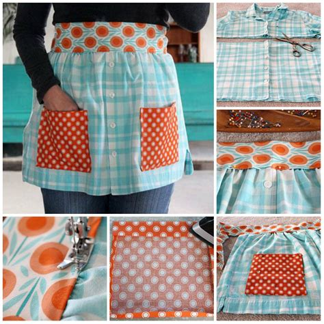 come cucire un grembiule da cucina grembiule da riciclo camicie tutorial