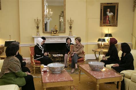 White House Tea Room by Mrs Bush Hosts A Tea For Mrs Emine Erdogan