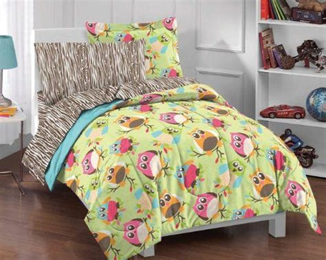 owl bed in a bag hoot 5 piece twin size bed in a bag with sheet set owl