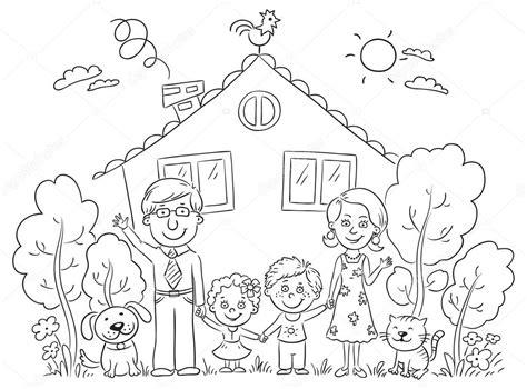 imagenes de una familia en blanco y negro familia en la casa contorno vector de stock 169 katerina