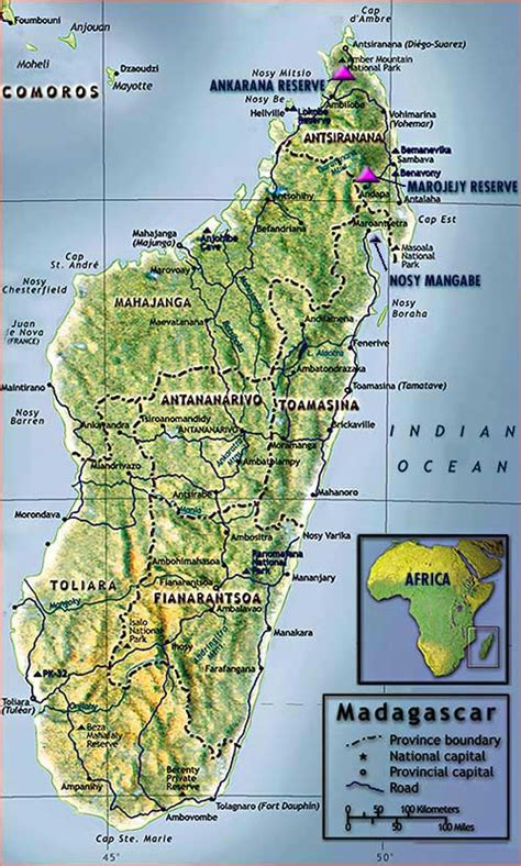 madagascar map maps of madagascar