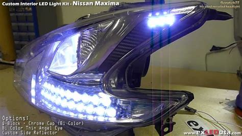 custom nissan maxima 2010 exledusa nissan maxima led custom headlight youtube