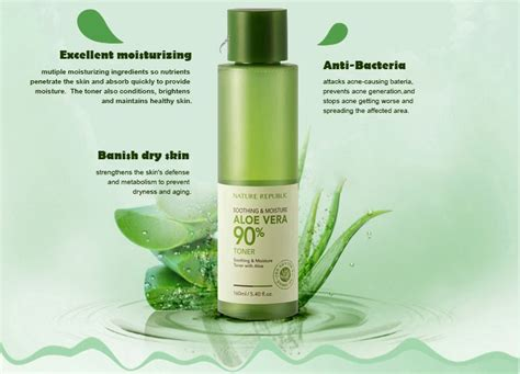Nature Republic Aloe Vera Soothing Toner nature republic soothing moisture aloe vera 90
