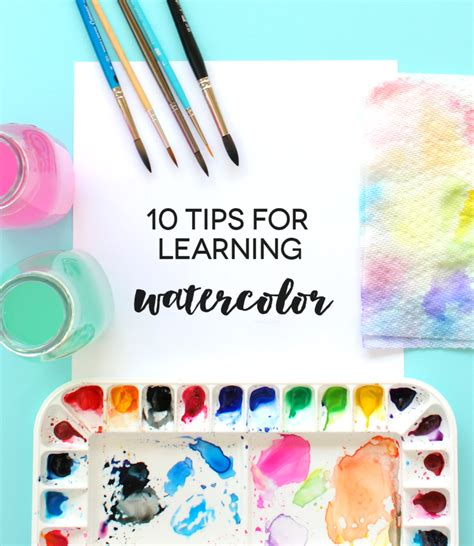 painting learning 10 tips for learning watercolor lines across