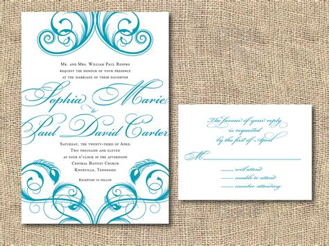 printable reception invitations printable wedding invitation peacock by iheartpaperandthread