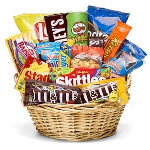 same day delivery gift baskets junk food and snacks gift basket same day delivery student gift office gift id