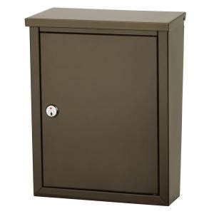 architectural mailboxes chelsea wall mount lockable
