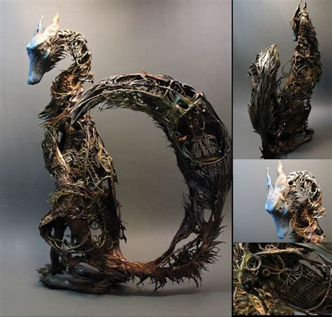 Handmade Clay Sculptures - intricate handmade creatures by jewett