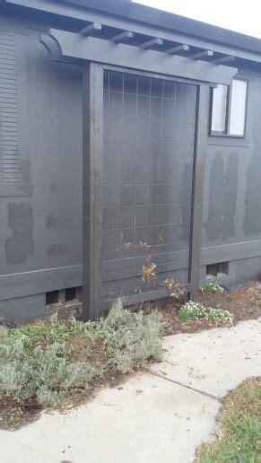 trellis built pergola style   cattle panel diy