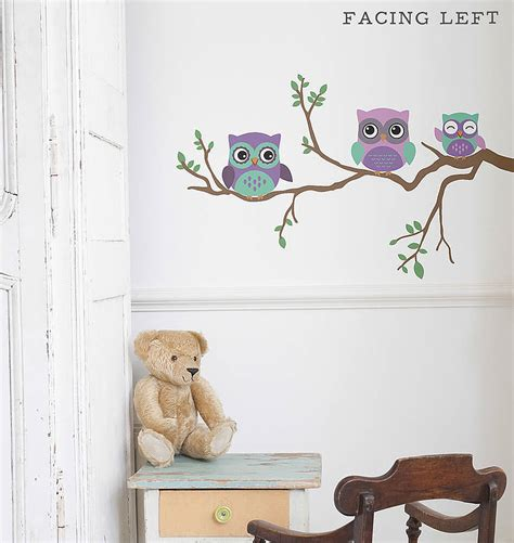 owl bedroom wall stickers children s wall sticker owl by oakdene designs