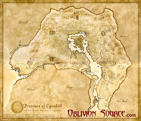 oblivion map oblivion maps