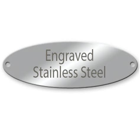 stainless steel tags 1 quot x 2 15 16 quot oval engraved stainless steel tags naptags