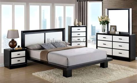 black and white bedroom furniture cali black white bedroom set by global