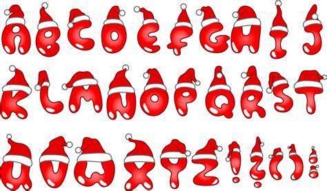 lettere alfabeto natalizie alfabeto natalizio alphabet vettoriali
