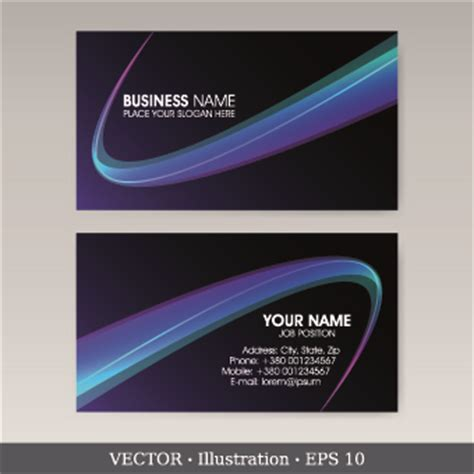 exquisite business cards design 01 vector card free download
