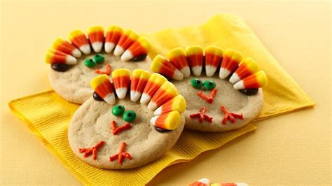 thanksgiving turkey cookies recipe from pillsbury com