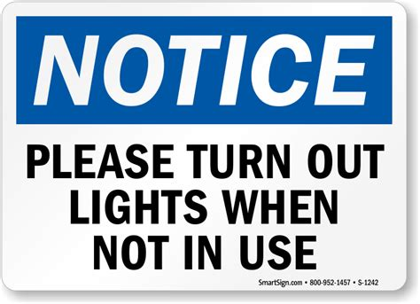 turn out the turn off lights not in use signs energy conservation