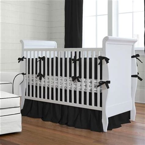 Solid Color Crib Bumper Pads by Solid Black Baby Crib Bedding Collection Carousel Designs