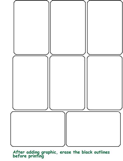 6 best images of printable blank playing cards template
