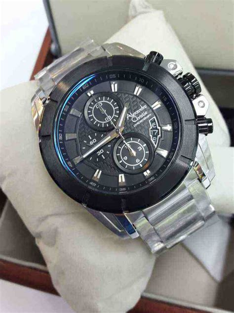 Alexandre Christie Ac6455bf 100 Original Stainless Steel Pria 4 Jual Alexandre Christie Ac 6226mc White Steel Black