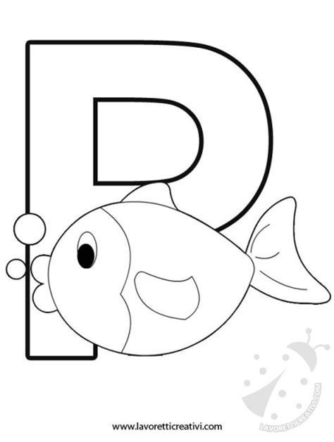 disegni con le lettere alfabeto con disegni lettera p