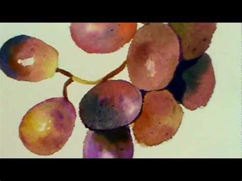 watercolor grapes tutorial watercolor painting tutorial grapes youtube