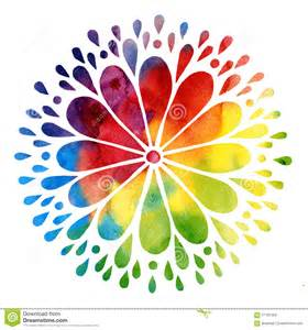 colorful sun watercolor abstract colorful sun stock illustration