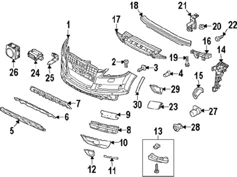 audi oem parts diagram audi 4l0807681b01c genuine oem outer grille ebay
