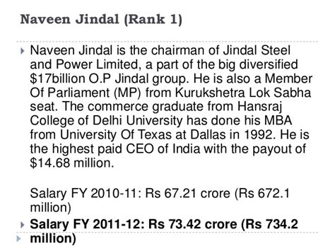 Ut Mba Average Salary by Top Paid Indian Ceo