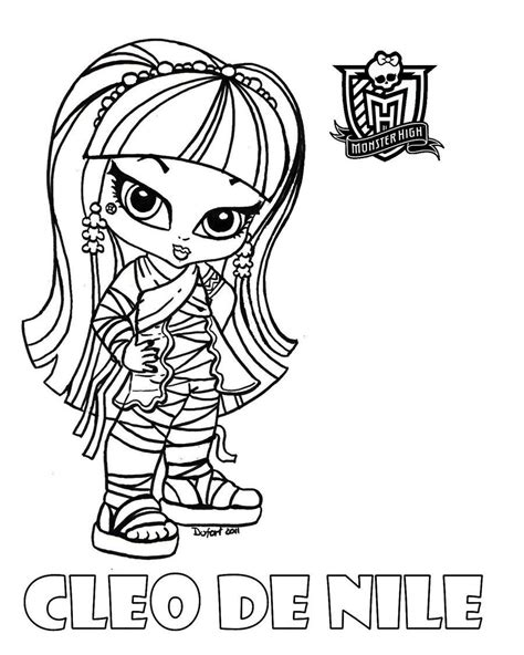 monster high coloring pages deviantart baby monster high coloring pages baby cleo by