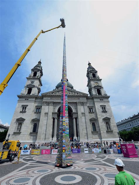 worlds tallest building 2014 世界最高lego塔刷新記錄於布達佩斯 a day magazine