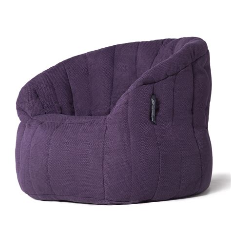 ambient lounge bean bag interior bean bags butterfly sofa aubergine