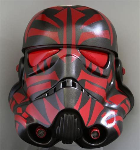 design your helmet star wars sith empire stormtrooper helmet covered with sith tattoos