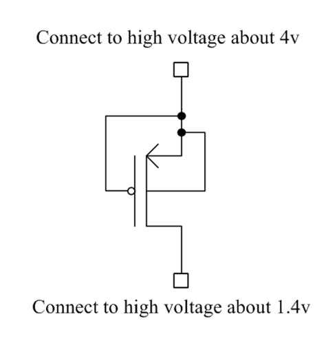 what is mos diode what is a diode connected 28 images how to connect a protection diode in a circuit why