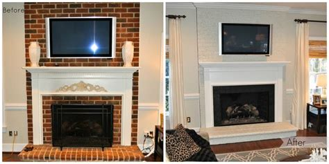 Painting Brick Fireplace Before And After by 1000 Images About Fireplace Inspiration On