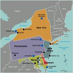 Northeast State Map by United States Northeast Region Map