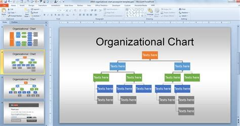 Free Org Chart Powerpoint Template Organizational Structure Ppt Template