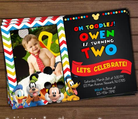 mickey mouse invitation template 23 free psd vector