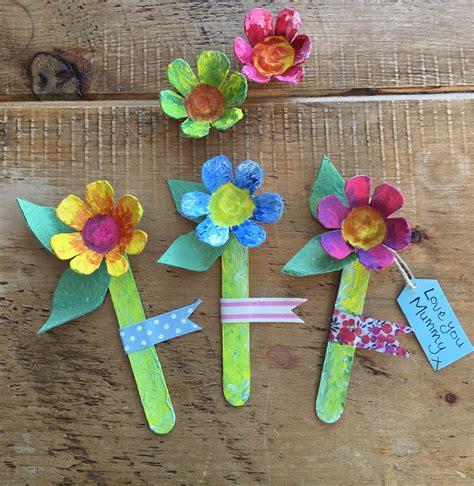 crafts flower s day egg box flowers craft tts inspiration