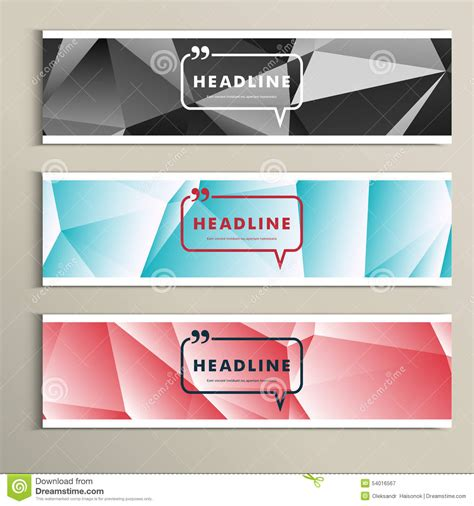 hairstyle banner design set of banner for design in abstract style stock vector