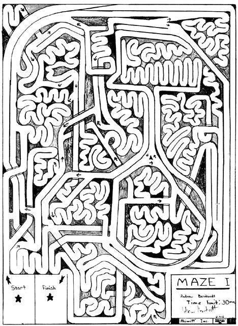 complicated coloring pages for adults andrew bernhardt s free maze mazes pinterest maze and worksheets