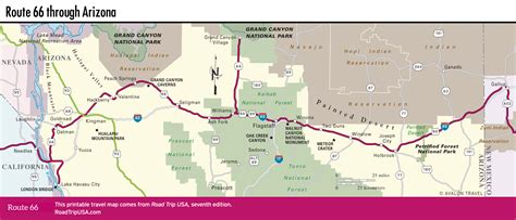 map of route 66 driving route 66 through arizona road trip usa