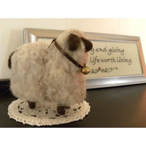 needle felt sheep soft and wooly country home decor