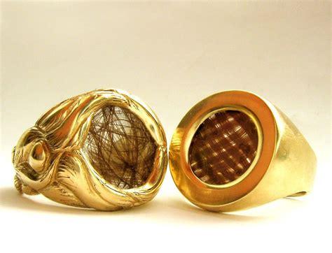custom hair wedding rings modern victorian mourning