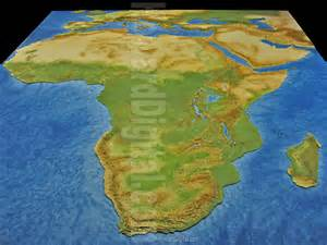 Topographic Map Of Africa by Physical Map Of Africa Landform Models African Model