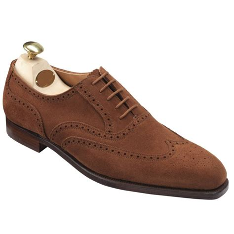 Handmade Mens Oxford Shoes - handmade mens fashion brown oxford wingtip suede formal