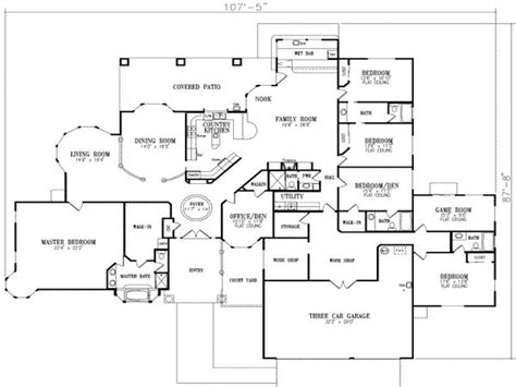 5 story house plans 5 bedroom house floor plans 2 story house modern 5