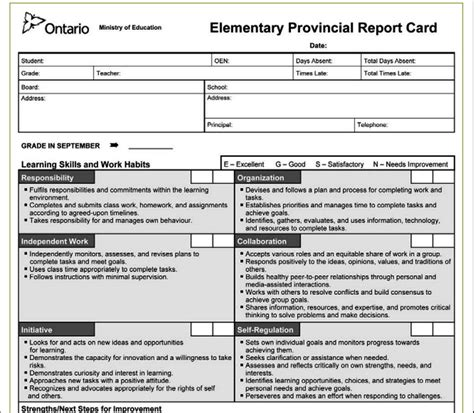 kindergarten report card template ontario debating report cards classroom collective