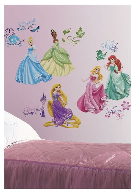 princess wall stickers disney princess peel stick wall decals